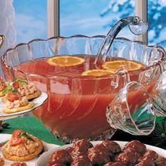 Rosy Fruit Punch ( may want to cut the sugar)