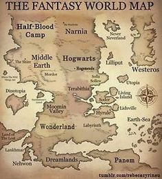 Fantasy world map for the boys.
