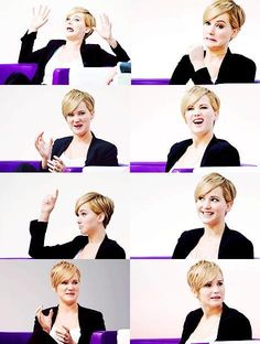 Jennifer Lawrence. I need to have someone else in the room besides me making these faces.