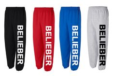 I Love Justin Bieber BELIEBER  sweatpant I love JUSTIN Bieber Fever Swaggy 12 on Etsy, $34.00