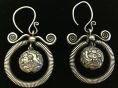 Chinese Miao Hill tribe Silver Minority  Earrings by WorldofBacara $75.00