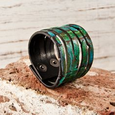 There are some really beautiful pieces on this site! Awesome handmade leather bracelets!