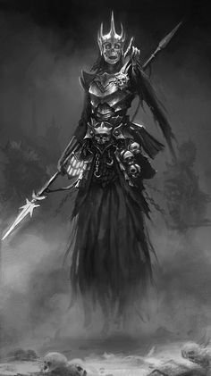 Wraith by mikrob on deviantART. I think I'll use this for the West's Lich. This pic is pretty gender neutral and the West Lich is a woman