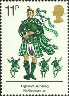 Bagpiper stamp