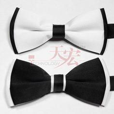 Black White Fashion Gentleman Formal Dress Tuxedo Bow Tie Bowtie Party Wedding | eBay