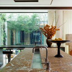 Chanel sink designed for food prep. | Candi Kitchens