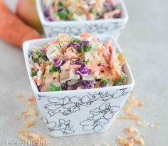 Raise your hands if you love coconut! Raise your hands if you love coleslaw… Ok now raise both hands if you love coconut coleslaw, yes, I am so in awe of this recipe, the super power of crunchy, creamy sweet tangy coleslaw mixed with a nutty, coconut taste. It is finger licking good as the ...