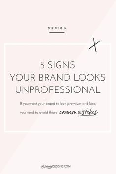 5 signs your brand looks unprofessional If you're here, it means you'd like to build a luxe, premium brand, that attracts the ideal client (with serious budget a& attitude to their business) and sets the right price expectations. Food Branding, Hotel Branding, Business Branding, Coffee Branding, Business Marketing, Corporate Branding, Branding Ideas, Business Education, Luxury Branding