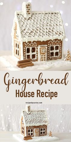 Royal Icing Gingerbread House, Homemade Gingerbread House, Cool Gingerbread Houses, Gingerbread Dough, Gingerbread House Designs, How To Make Gingerbread, Christmas Gingerbread House, Gingerbread Cookies, Royal Icing Recipe For Gingerbread House