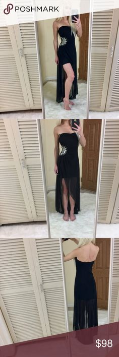 BLACK & SILVER HIGH LOW EVENING DRESS/ PROM DRESS Condition: good- never worn! Dresses Prom