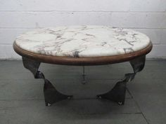 Unique Steel Base and Marble Top Coffee #Table https://www.1stdibs.com/furniture/tables/coffee-tables-cocktail-tables/