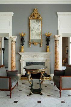 Beautiful marble columns.