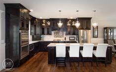 "Waypoint Living Spaces 720R ""Maple Espresso"" cabinets. ""Crema Pearl"" Granite countertops."