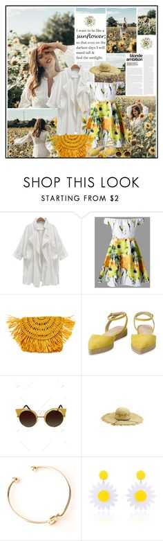 """""""I want to be like a sunflower..."""" by katik27 ❤ liked on Polyvore featuring Mar y Sol"""