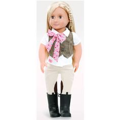 Our Generation Riding Doll with Tweed Vest - Leah ; Dolls, Dolls and Accessories, Dolls and Accessories, Toys Og Dolls, Girl Dolls, Barbie Dolls, Poupées Our Generation, American Girl, My Life Doll Clothes, Pretty Brown Eyes, Horseback Riding Outfits, Tweed Vest