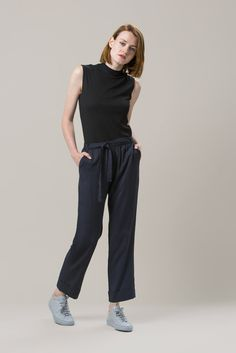 Mock Neck Muscle Tee, Black by Nomia #kickpleat