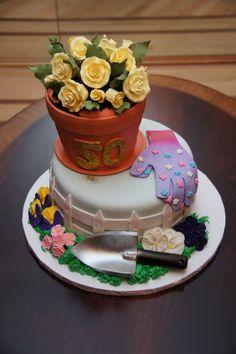garden theme 50th birthday