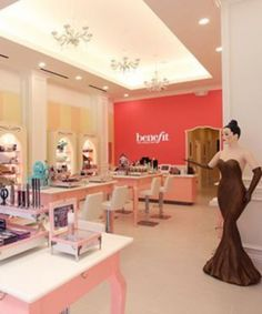 Benefit Cosmetics Downtown Flagship Store in San Fran. I want to go here!