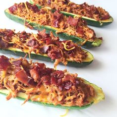 BBQ Chicken Zucchini Boats by Clean Eats & Treats