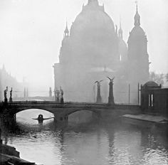 """Berlin, Mitte - Berlin cathedral (""""Berliner Dom"""") with river Spree, around 1900 Old Pictures, Old Photos, German Houses, Istanbul, Berlin Photos, Berlin Germany, Berlin Berlin, Old City, Germany"""