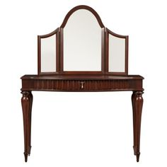 Find it at bombaycompany.com  - Coventry Vanity with Mirror - Mahogany