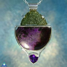 Raw Moldavite Polished Sugilite & Faceted by ArkadianCollection