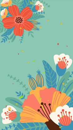 Pastel Wallpaper, Cute Wallpaper Backgrounds, Pretty Wallpapers, Computer Wallpaper, Flower Wallpaper, Screen Wallpaper, Iphone Wallpaper, Art Graphique, Floral Illustrations
