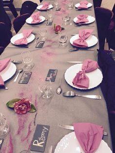 Jeux concours photos une d coration de table rose tendre for Deco table rose et noir