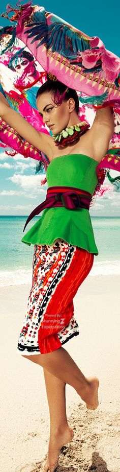 Barbara Fialho Beach Fashion 4 Harper's Bazaar Mexico by Danny Cardozo