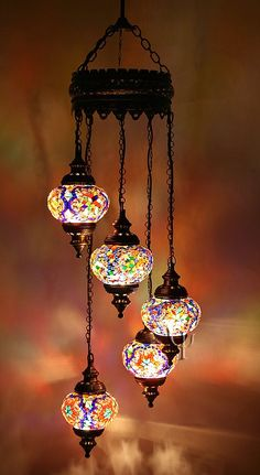Turkish Mosaic lamps. Colorful