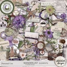 Personal Use :: Element Packs :: Wanderlust - Elements Wanderlust Travel, Gallery Wall, Adventure, Frame, Design, Art, Picture Frame, Art Background, Wanderlust