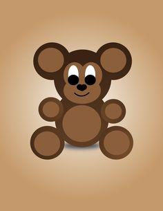 Simple Teddy Bear Illustration by