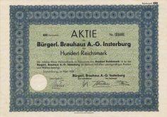 Bürgerliches Brauhaus AG, Insterburg/Tschernjachowsk Черняховск 1929