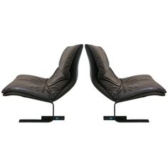 Pair Saporiti Onda Chairs | From a unique collection of antique and modern lounge chairs at https://www.1stdibs.com/furniture/seating/lounge-chairs/