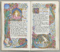 Bayes, Jessie (1876-1970) Illuminated Manuscript, Six Poems from Gitanjali by Rabindranath Tagore.