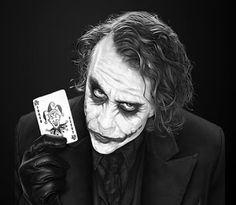 The Joker Heath Ledger Black & White Poster - Sizes