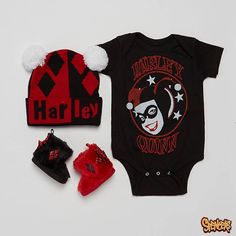 Harley Quinn infant outfit