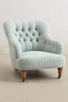 A library chair. Linen Corrigan Chair - anthropologie.com