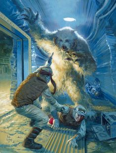 a wampa attacks Rebel soldiers in Echo Base