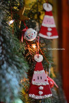 Decorazioni natalizie rustiche Babbo Natale/Rustic Santa Christmas ornaments.  #etsy #etsyshop #christmas #homedecor #ornament #xmas #natale #decorazioni #rustic #handmade #fattoamano #legno #wood #woodworking #christmasdecor