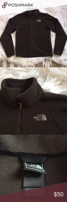 Brown Fleece North Face Jacket Dark Brown | Fleece Full Zip North Face Jacket | Size XS | In Great Condition ** North Face Jackets & Coats