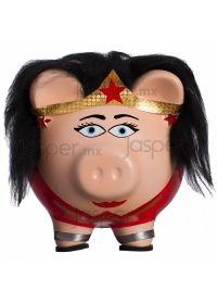 Alcancía cerdito de cerámica - Wonder Woman