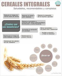 Alimentos saludables: #cereales #integrales