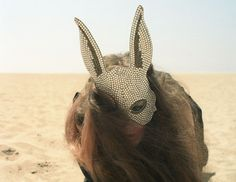 Alice enters Black Rock City- I'm going to make this! Avocado Mask, Bunny Mask, Animal Masks, Pictures Of People, Burning Man, Alice In Wonderland, Face, Animals, Inspiration