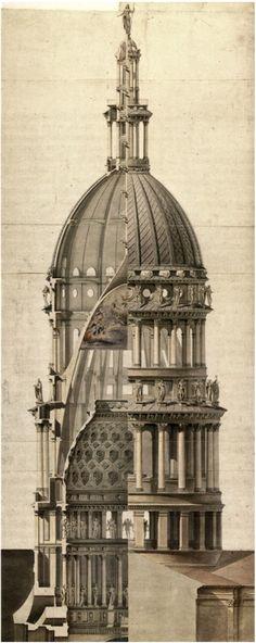 La basílica de San Gaudencio es una importante iglesia católica de la ciudad italiana de Novara, en la región del Piamonte, famosa por su elevada cúpula, obra de Alessandro Antonelli / construida entre 1876 y 1878 / http://neo-constructivist.tumblr.com/post/107132377710/alessandro-antonelli-cupola-di-san-gaudenzio