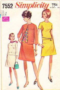 1968 Mod Suit or Separates Vintage Pattern by BuzzyVintage on Etsy, $10.00