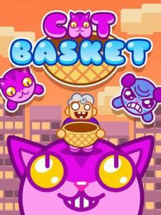 Cat Basket For Kids for iPhone & iPad - a simple arcade game. Original Appysmarts score: 72/100