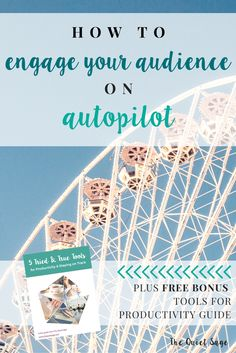 If you're a stay-at-home mom running an online business, you know that time and energy can't be wasted to get things done. One of my best tips for efficiency and results is the power of engaging your audience on autopilot… using autoresponders! Click through to read how I work less while engaging my audience more and get your FREE productivity guide.