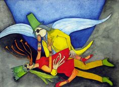 """""""Viaja de Ti Mismo Hacia Ti Mismo"""" Alejandro Jodorowsky Poesia Sin Fin Painted by: @PascaleMJodo @alejodorowsky"""