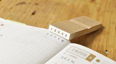 ほぼ日手帳で使える、1から5の数字スタンプ。ヨコ書き。   OSANPO Shopping   手帳に役立つスタンプ雑貨の通販
